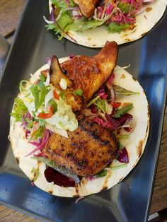 Fish tacos at Flock
