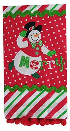Dei Christmas Snowman Dish Towels Merry *** You can find out more details at the link of the image.