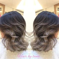 """Here again , grey Ombre work with short hair. Natural sunlights exfect For Oct and Nov app pls text : 604 377 2746 Lana Balayage Hair Grey, Balayage Ombré, Ash Blonde Balayage Short, Bayalage, Hair Color And Cut, Pixie Cut, Hair Dos, Hair Hacks, Curly Hair Styles"
