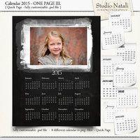 Calendar 2015 Single Page III.