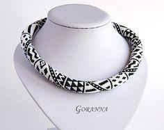 Collar de bolas de remolque Josephine por GorannaBeads en Etsy