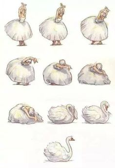 dance, Swan, and ballet image