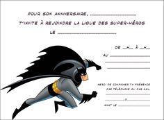 Invitation Super héros2