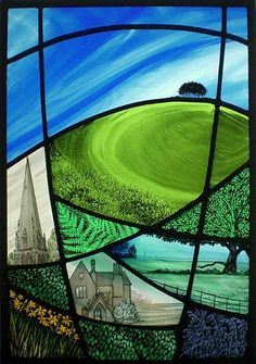 Gloucestershire Guild of Craftsmen - promoting contemporary British designer crafts - stained glass artist Annie Rie
