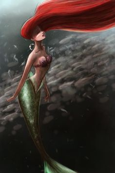 Ariel swimming with fishies by ThereseOfTheNorth on deviantART mermaid disney princess Disney Pixar, Gif Disney, Arte Disney, Disney Fan Art, Disney Animation, Disney And Dreamworks, Disney Love, Disney Magic, Disney Characters