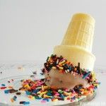 Chocolate Cake Batter Ice Cream with Sprinkles, no cooking required but you will need a cake mix!  Yum!