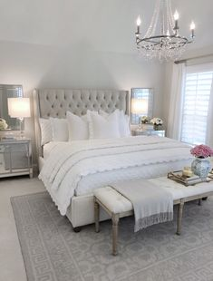 25 Exquisitely Admirable Modern French Bedroom Ideas To Steal. modern french bedroom Check out these fascinating modern French bedroom ideas to bring the style of your home to a whole new level! Master Bedroom Design, Dream Bedroom, Home Decor Bedroom, Bedroom Designs, French Bedroom Decor, Bedroom Decor Elegant, Neutral Bedroom Decor, Mirrored Bedroom, French Style Bedrooms
