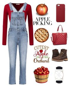 """""""apple picking"""" by im-karla-with-a-k on Polyvore featuring AG Adriano Goldschmied, OXO, Timberland PRO and Apple"""