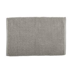 With a soft and absorbent surface, this bath mat makes a great addition to your room. Home Entertainment, Bathroom Styling, Bath Mat, Rugs, Knitting, Grey, How To Make, Display Ideas, Villa