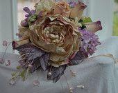$100.00   Cream and lavender bridal bouquet