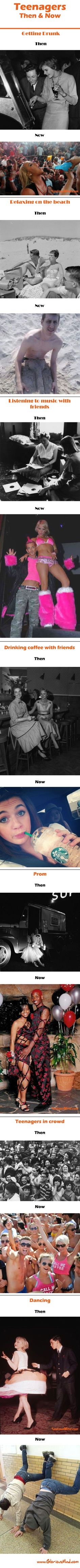 Teenagers – Then and Now