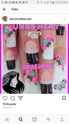Cool nails Purple And Pink Nails, Beauty Tips And Secrets, Christmas Nail Art, Eye Make Up, Simple Nails, Toe Nails, Lip Makeup, Pretty Nails, Nail Colors