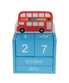 Double Decker Bus Block Calendar | something special every day