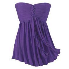 Purple Bandeau Top