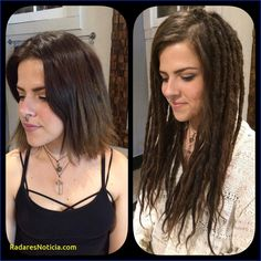 before and after dreadlock extensions Google Search Hairstyles