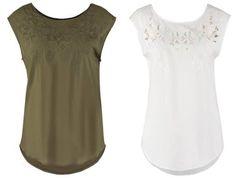Vero Moda Vmcutout Blusa Snow White camisetas y blusas white Vmcutout Vero Snow moda blusa Noe.Moda