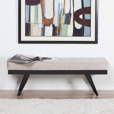 Studio Designs Home Parvise Bench - Fashionable and functional, our Studio Designs Home Parvise Bench is a wonderful addition to any room. Featuring a solid wood frame and legs, plush...