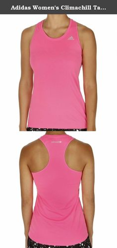 Adidas Women's Climachill Tank Large Solar Pink. When it comes to cardio training, if you aren't getting hot and sweaty, you're not doing it right. But your workout wear can be an ally for keeping you cool. This women's racer-back tank is ready to outsmart excess heat with new CLIMACHILL. Its meshlike fabric gives a refreshing, cool-to-the-touch feel, and strategically placed metal dots on the inner neck conduct heat away from the skin.