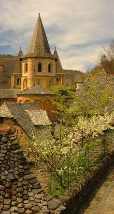 Conques, France   we  waren daar en staat in ons boek,