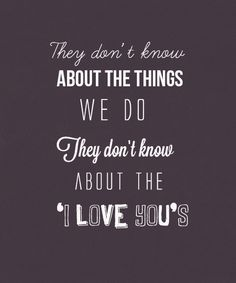 They Don't Know About Us-One Direction