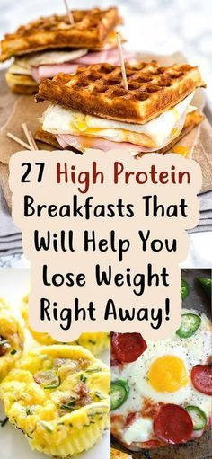 27 High Protein Breakfasts That Will Help You Lose Weight Right Away! 27 High Protein Breakfasts That Will Help You Lose Weight Right Away! The post 27 High Protein Breakfasts That Will Help You Lose Weight Right Away! & Food appeared first on Health . Healthy Desayunos, Healthy Protein Snacks, High Protein Recipes, Healthy Drinks, Healthy Eating, Healthy Breakfasts, Diet Recipes, Nutrition Drinks, Nutrition Store