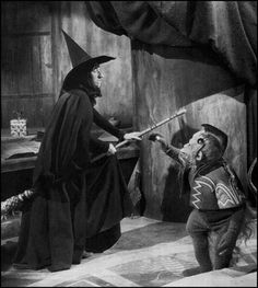 THE WICKED WITCH OF THE WEST (Margaret Hamilton) and A Flying Monkey ~ The Wizard of OZ, 1939 #classichollywood