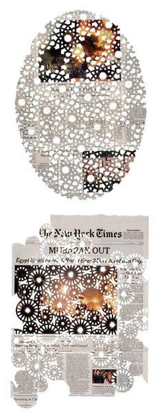 Design de superfície no jornal