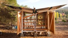 Toro Cyn Chicken Coop - farmhouse - Garage And Shed - Santa Barbara - Wyndhamdesign Raising Backyard Chickens, Backyard Chicken Coops, Farm Chicken, Keeping Chickens, Chicken Houses, Chicken Eggs, California Chicken, Butterfly Roof, Tiny House Blog