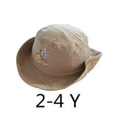 868b24bc Children Boys Sun Hats Spring Summer Caps Cotton Bucket Hat Baby Kids Boy  Cool Tractor Cap
