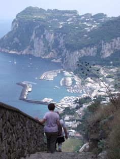 Capri - Vue de la Scala Fenicia - I walked these UP these steps in 2008 with my Mom!