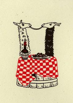 Llama salutations - the art of alexandra beguez llama llama, llama face, llama arts Alpacas, Funny Animals, Cute Animals, Camelus, Llama Arts, Llama Face, Llama Birthday, Cute Llama, Softies