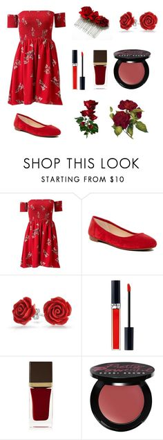 """""""Red Rose"""" by artisticgirl2003 ❤ liked on Polyvore featuring Vince Camuto, Bling Jewelry, John Lewis and Tom Ford"""