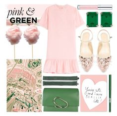 """pink & green"" by foundlostme ❤ liked on Polyvore featuring CARAT*, Essence, Tasha, Once Upon a Time, Vanessa Bruno Athé, Delpozo, 3.1 Phillip Lim, Radstudio!, jane and ruffles"