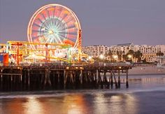 Santa Monica Pier... you at least have to go here once... it is pictured on every introduction to every tv show.. ha ha.. it's not that special and tourist annoying but the ferris wheel is worth a shot.