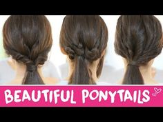 3 Easy hairstyles with ponytails - YouTube