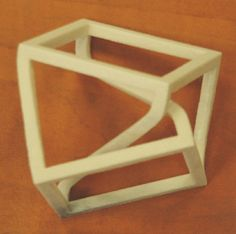 Escher for Real: the Necker Cube in 3D