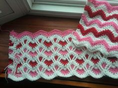 Reversible ripple afghan