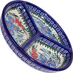 Polish Pottery Ceramika Boleslawiec 0727/169 Mercedes Divided Platter, 10-3/4-Inch in Diameter, -- More info could be found at the image url.