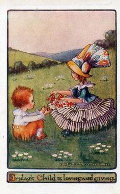 Flora white postcard - Friday's Child