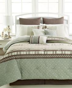 Caroline 22 Pc California King Comforter Set Bed In A Bag Seafoam Green