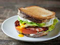Bacon, Lettuce, Tomato and Fried Egg Sandwiches           RSmith