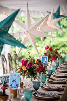 star lanterns for a more modern and funky wedding vibe