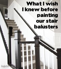 Superb I Love The Look Of Two Toned Banisters, These Are Great Tips For Painting  Stair