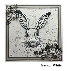 Pink Ink Designs Clear Stamp Set - Hare by Pink Ink Watercolor Fabric, Watercolor Cards, Fabric Painting, Honey Doo Crafts, Animal Stencil, Animal Doodles, Ink Stamps, Animal Cards, Doodle Drawings
