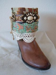 Desert Queen   Boho Accents, Ankle Art, Boho Boot Accents -   www.bohoaccents.com
