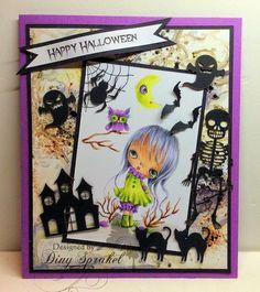 Happy Halloween gemaakt door Diny