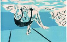 Conceal, 4-color lithograph, Krista Troy, kristatroy.com