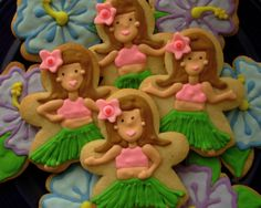 Cookies for my daughter's 3rd birthday luau party... Delicious and beautiful to boot! cookiedaydream.blogspot.com