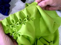 Beautiful Cushions with Canadian smocking ♥ video tutorial