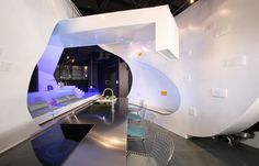 Ultra Modern Loft Idea in LA - luxe loft with a womb-like architecture